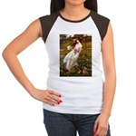 Windflowers / Dachshund Women's Cap Sleeve T-Shirt