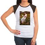 Windflowers / Dachshund Women's Cap Sleeve T-Shirt