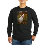 Windflowers / Dachshund Long Sleeve Dark T-Shirt