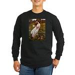 Windflowers / Dachshund Long Sleeve Dark T-Shirt
