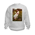 Windflowers / Dachshund Kids Sweatshirt