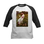 Windflowers / Dachshund Kids Baseball Jersey