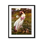 Windflowers / Dachshund Framed Panel Print