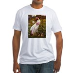 Windflowers / Dachshund Fitted T-Shirt