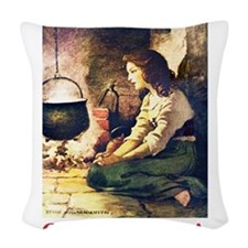 Cinderella_RED.png Woven Throw Pillow