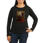 Lincoln's Dachshund Women's Long Sleeve Dark T-Shi