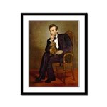 Lincoln's Dachshund Framed Panel Print