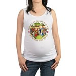 alice who let blondie_gold copy.png Maternity Tank
