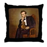 Lincoln's Dachshund Throw Pillow