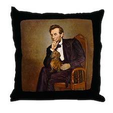 Lincoln's Dachshund Throw Pillow