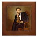 Lincoln's Dachshund Framed Tile