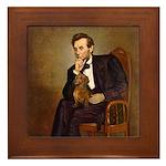 Lincoln's Dachshund Framed Tile