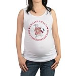 alice RABBIT im late red copy.png Maternity Tank T