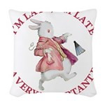 alice RABBIT im late red copy.png Woven Throw Pill