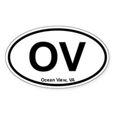 Ocean View, VA Oval Decal