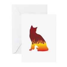 Snowshoe Flames Greeting Cards (Pk of 10)