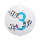 3 years old Ornament (Round)