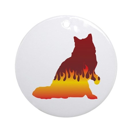 Ragamuffin Flames Ornament (Round)