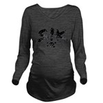 SIK_Blk2.png Long Sleeve Maternity T-Shirt