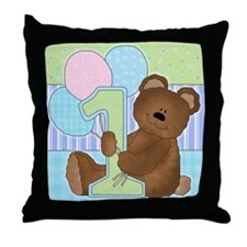 Cute 1st Birthday Throw Pillow