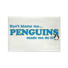 Blame Penguins Rectangle Magnet