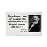 Karl Marx Quote 5 Rectangle Magnet
