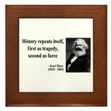 Karl Marx Quote 6 Framed Tile