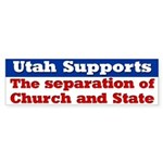 Utah Church and State Bumper Sticker