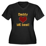 Daddy Loves Me Best! Women's Plus Size V-Neck Dark