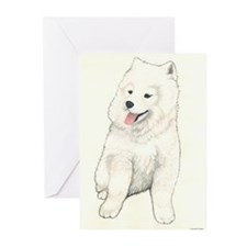 Samoyed Puppy Greeting Cards (Pk of 10)