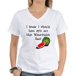 Watermelon Seed Women's V-Neck T-Shirt