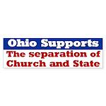 Church and State Ohio Bumper Sticker