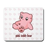 Pink Teddy Bear Mousepad