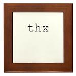thx - Thanks Framed Tile