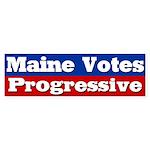 Maine Votes Progressive Bumper Sticker