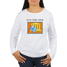 Custom Greece Flag Long Sleeve T-Shirt