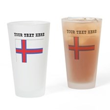 Custom Faroe Islands Flag Drinking Glass
