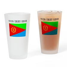 Custom Eritrea Flag Drinking Glass