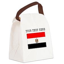 Custom Egypt Flag Canvas Lunch Bag