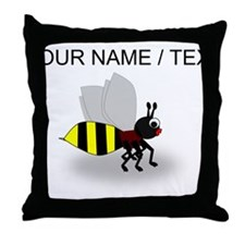 Custom Cartoon Bee Throw Pillow