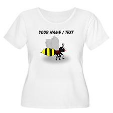 Custom Cartoon Bee Plus Size T-Shirt