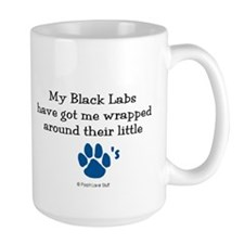 Wrapped Around Their Paws (Black Lab) Mug