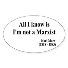 Karl Marx Text 10 Oval Decal