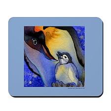 Devoted Dad Penguin Mousepad