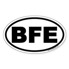 BFE Oval Decal