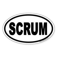 SCRUM Oval Decal