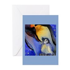 Devoted Dad Penguin Greeting Cards (Pk of 10)