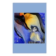 Devoted Dad Penguin Postcards (Package of 8)