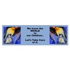"Devoted Dad Penguin ""We leave.."" Bumper Bumper Sticker"