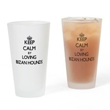 Keep calm by loving Ibizan Hounds Drinking Glass